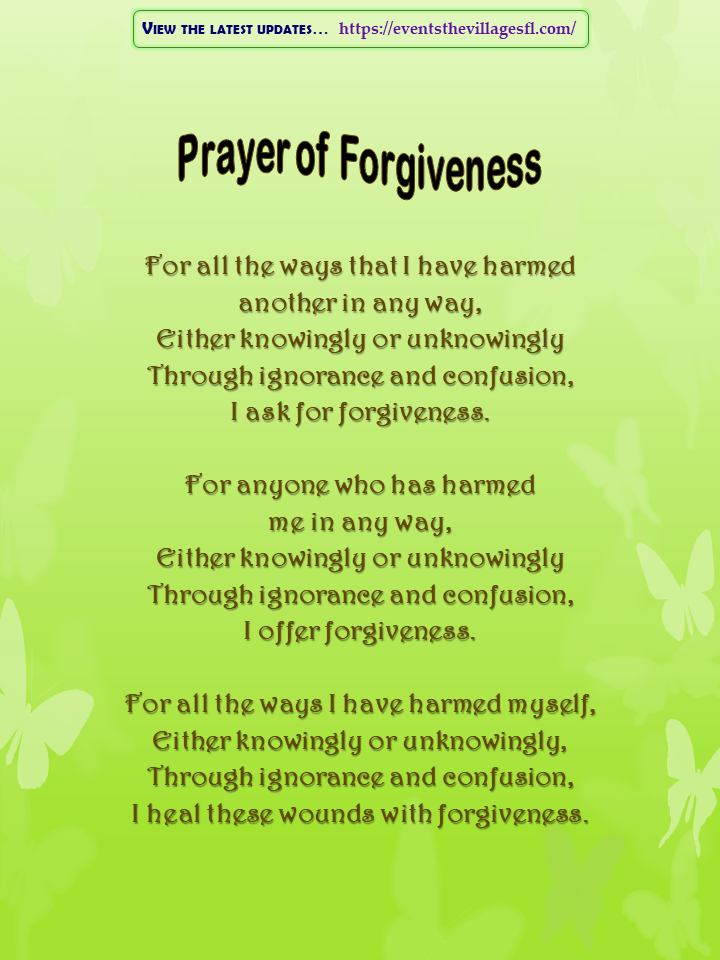 Prayer of Forgiveness
